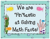 We are Fin-tastic at Solving Addition & Subtraction Facts to 20!