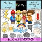 Weather Clip Art BLACKLINES