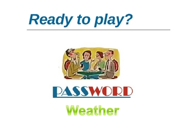 Weather Vocabulary Powerpoint Password Game
