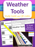 Weather & Weather Tools Study Guide with QR Codes {Links t