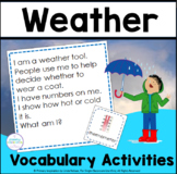 Inference, Key Details, and Vocabulary ~ Weather Riddles