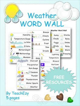 Weather Word Wall Resource