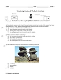 Weathering, Erosion, and the Rock Cycle Quiz