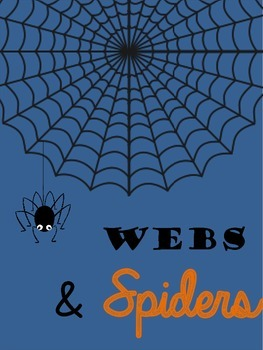 Webs and Spiders {Halloween Coloring Pages}