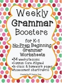 Weekly Grammar Boosters {34 weeks}