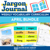 Weekly Interactive Vocabulary Notebook Unit April Bundle (