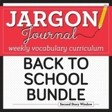 Weekly Interactive Vocabulary Notebook Unit August Bundle