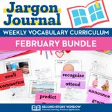 Weekly Interactive Vocabulary Notebook Unit February Bundle