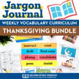 Weekly Interactive Vocabulary Notebook Unit November Bundl