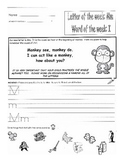Weekly Kindergarten Homework Packets