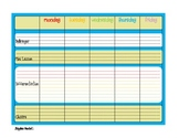 Weekly Planner with Reflection Blue PDF