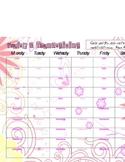 Weekly Priase & Thanksgiving sheet- pink