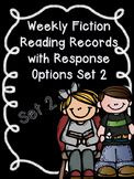 Editable Weekly Fiction Reading Records with Comprehension