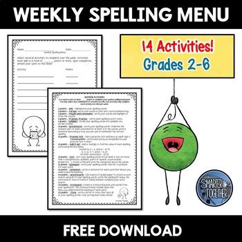 Yearlong Spelling Menu!