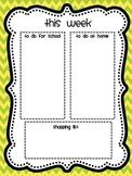 "Weekly Teacher ""to do"" List & Grocery List"
