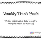 Weekly Think Book Free Sample Page