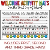 Welcome Activity Mats for the First Day of School