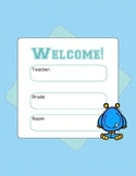 Welcome Door Poster - Monster theme