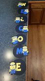 Minions from Despicable Me Welcome Sign