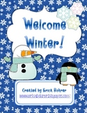 Welcome Winter!  Common Core Literacy and Math Activities