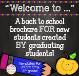 Welcome to... Created by graduating students for next year