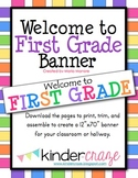 Welcome to First Grade Banner