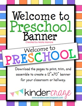 Welcome to Preschool Banner