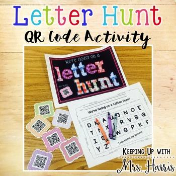 We're Going on a Letter Hunt - QR Letter Hunt