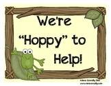 We're Hoppy to Help!  Frog Themed Job Assignment Mini Bull