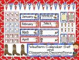 Western Calendar Set  and Classroom Decorations