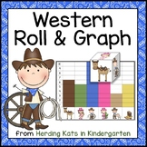Western Cowboy Roll & Graph Activity
