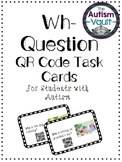 Wh Question QR Code Task Cards for Students with Autism