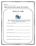 Whale of a Tale Reading Comprehension