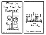 What Do They Need for Kwanzaa? Emergent Reader - Holidays