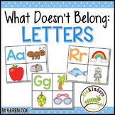 What Doesn't Belong: Letters and Sounds