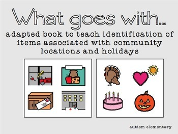 Community Places & Holidays Adapted Book for Special Education