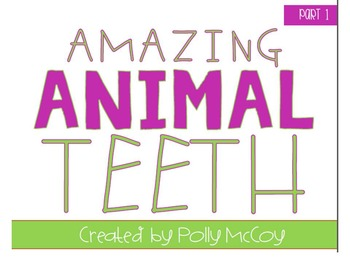 What If You Had Animal Teeth!? Craftivity Pack