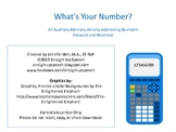 What's Your Number?  Auditory Memory Practice (Forward & R