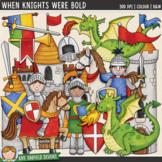 When Knights Were Bold (Medieval Dragon Line Art & Clip Art)