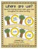 Where Are We Cards - Beach Theme/Chicka Chicka Boom Boom