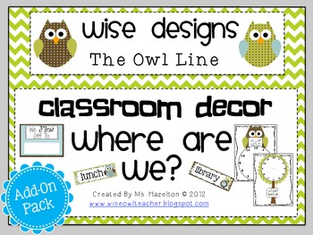 [Wise Designs] Owl Line Where Are We? Add-On Pack
