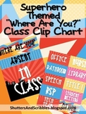 Where Are You? Class Clip Chart