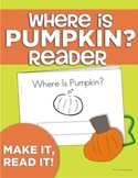 "Where Is Pumpkin? Position Word Interactive ""Make & Read"" Book"