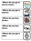 """Where Questions"" for Autism with Picture Flashcard Answer"
