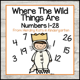 """""""Where the Wild Things Are"""" I Have... Who has..? Number Game"""