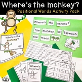 Where's the Monkey Positional Words Activity Pack