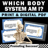 Human Body Systems Biology Anatomy Task Cards Science Cent