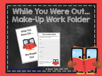 While You Were Out Make-up Work Folder Kit