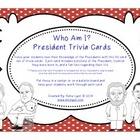Who Am I? President Trivia Cards
