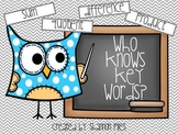 Who Knows Key Words?  Math Word Sorting Activity